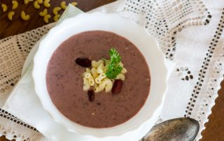 fižolova juha z makaroni