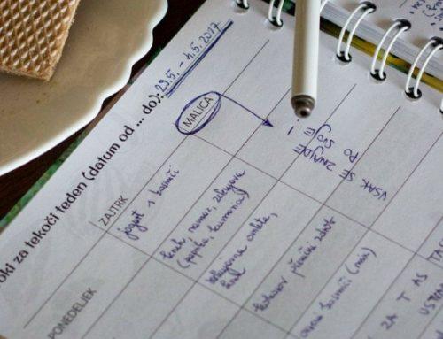 Kako se jaz lotim planiranja obrokov?
