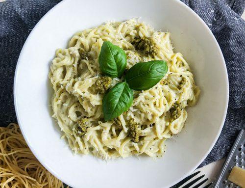 Cream Cheese Pesto Alla Genovese Pasta