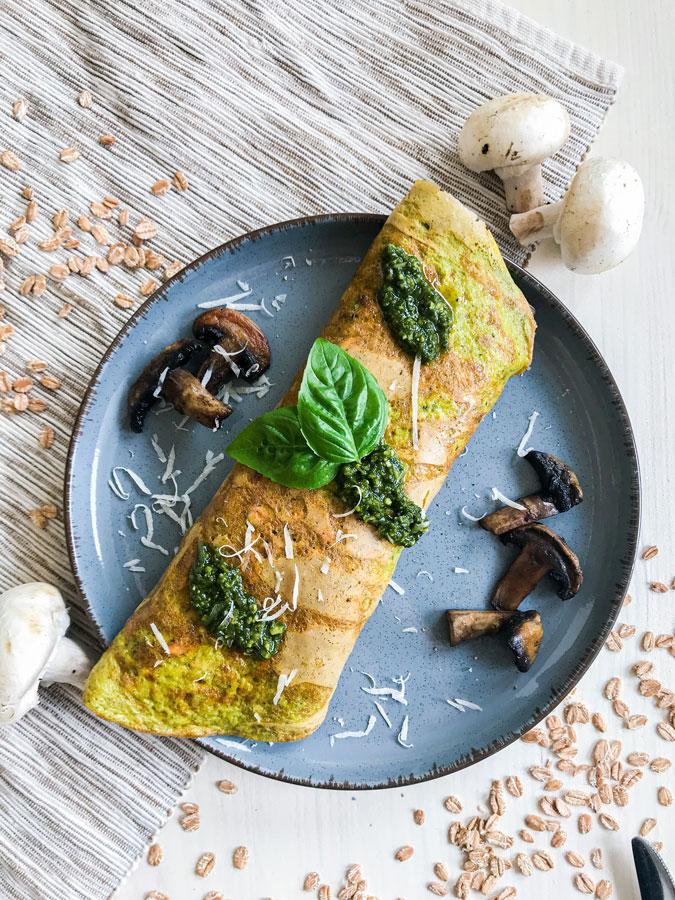 pesto omleta