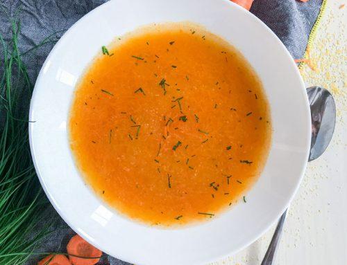 Korenčkova juha s polento
