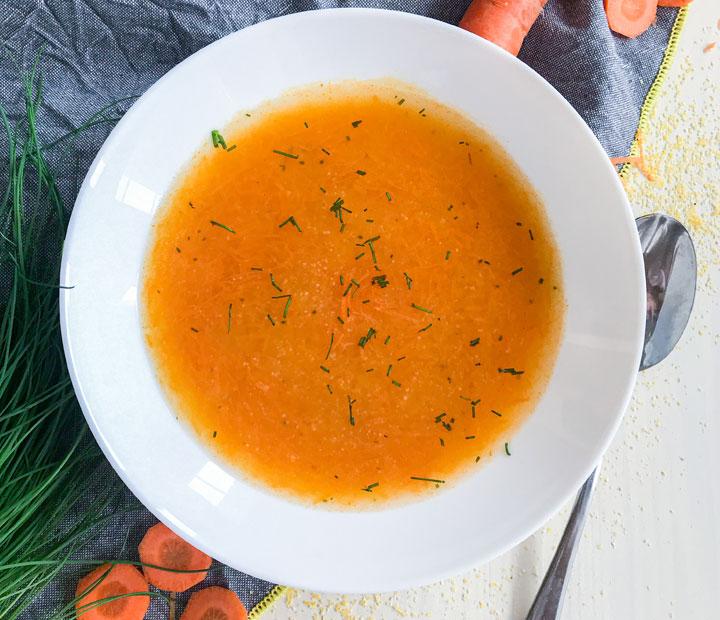 korenček polenta juha