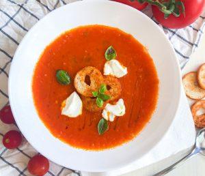 Paradiznikova juha iz pecenih paradiznikov