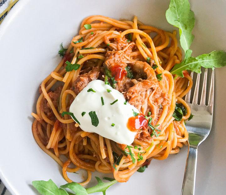 barbecue spageti