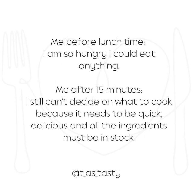 I cook for my family practically every day 🙂and this was a regular problem I had 😩 and I still sometimes do if I don't make a meal plan. Since I am meal planning things are so much easier. 😁I only think about what to cook once a week, I make a plan and then I go and execute it.   My T as Tasty printable Meal Plan guide can help you with this too. 😎  No more worries at the last minute. 😉 You can order it on my page (link in bio) under shop. 🙃